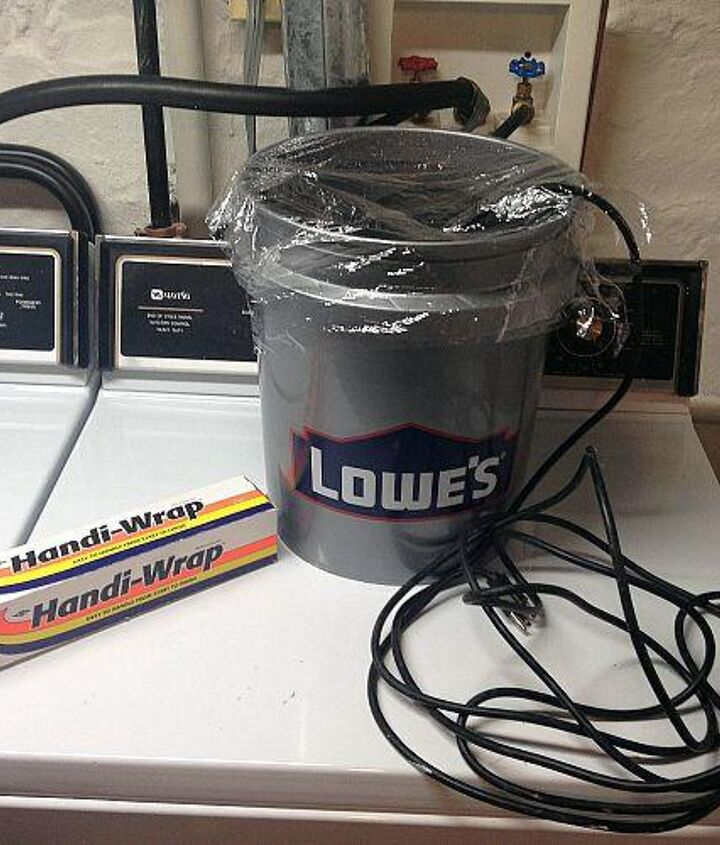 Place Pump in a bucket of water and cover with plastic wrap.   The Plastic wrap will prevent water from evaporating through out the winter.