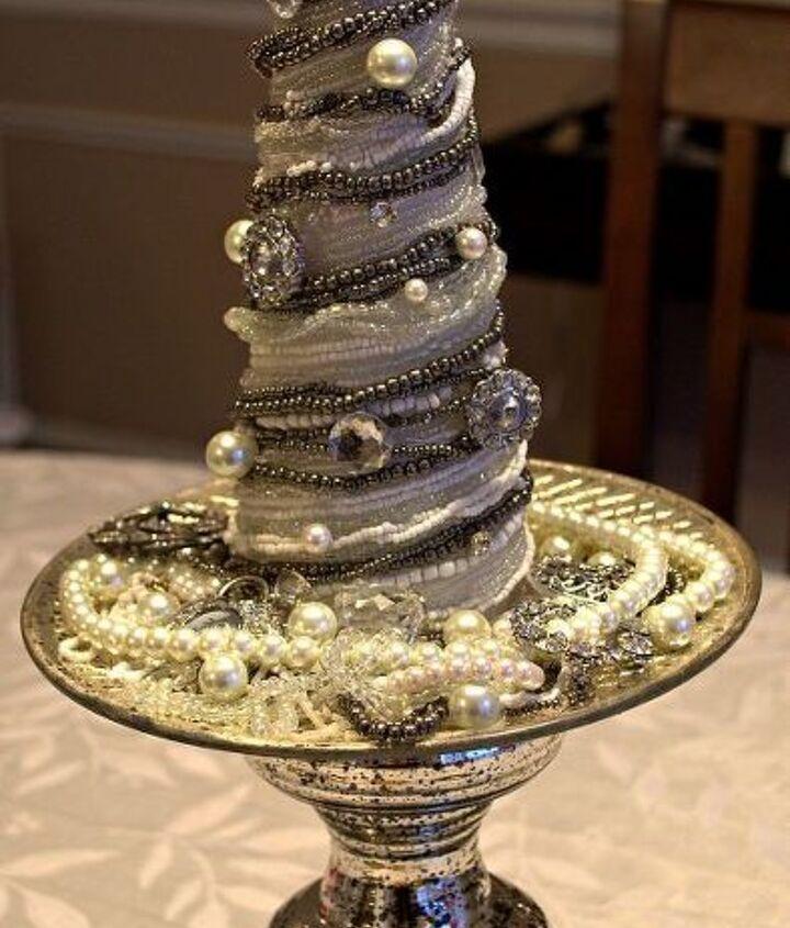Vintage Glam Foam Cone Christmas Tree Tutorial