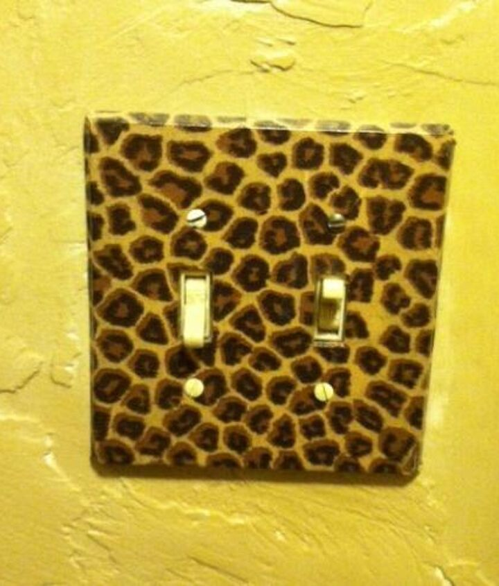 Decoupage wall switch