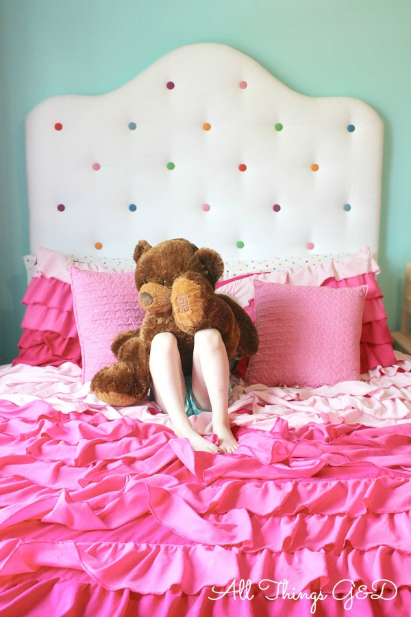 Polka Dot Headboard Idea For Child\'s Room | Hometalk