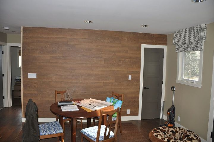 laminate flooring wall, wall decor, woodworking projects