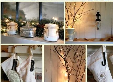 white silver amp burlap christmas mantel, christmas decorations, crafts, seasonal holiday decor, wreaths