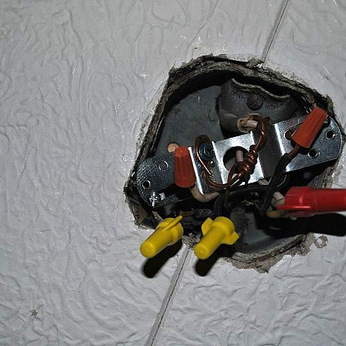 q remove ceiling fan put in light fixture, electrical, lighting, ceiling fan to light fixture too many wires