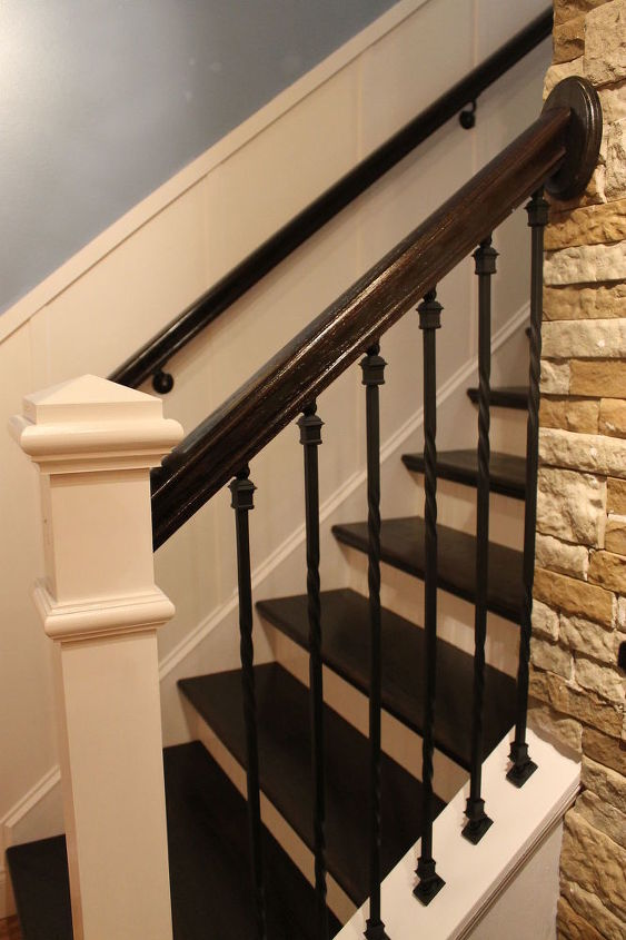 board and batten remodeled staircase, diy, home improvement, stairs, woodworking projects