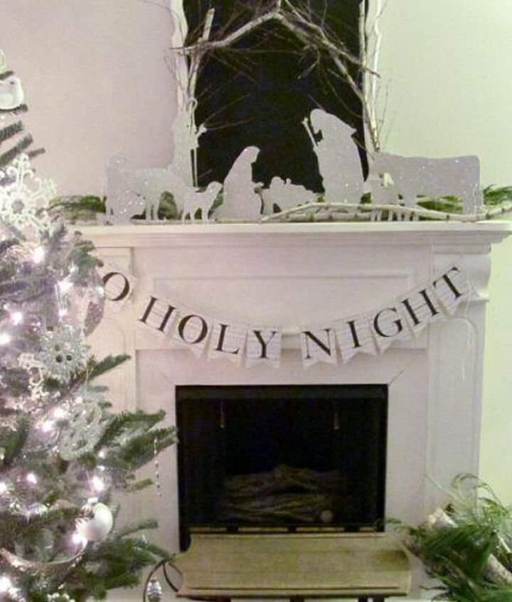 My Christmas Mantel with Silhouette Nativity.