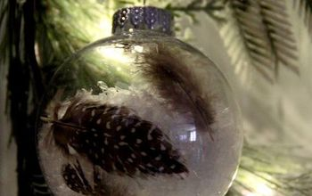 DIY Snow/Feather Ornament