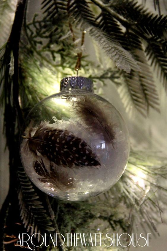 how to make a snow feather ornament, christmas decorations, crafts, how to, seasonal holiday decor