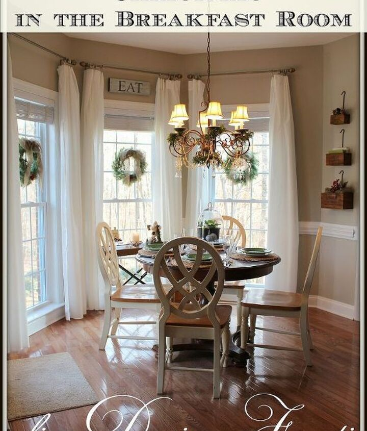 christmas in the breakfast room, seasonal holiday d cor