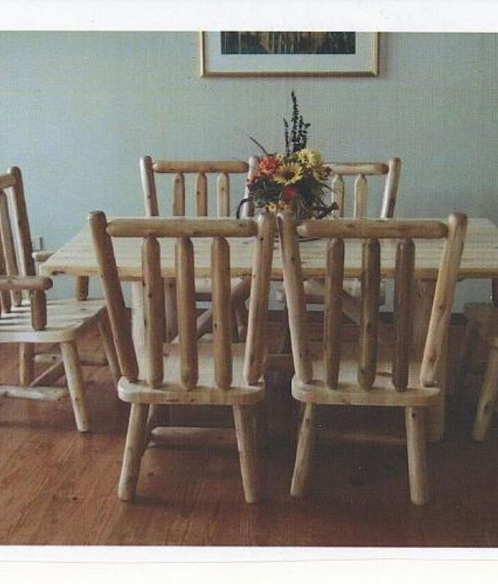 White pine custom table with matching chairs hand crafted in our shop.