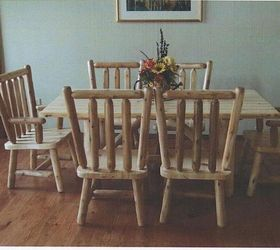 Custom Hand Crafted Log Furniture, Rustic Furniture, Woodworking Projects,  White Pine Custom Table
