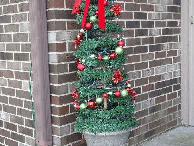christmas tree tomato cage, seasonal holiday d cor, During the daytime