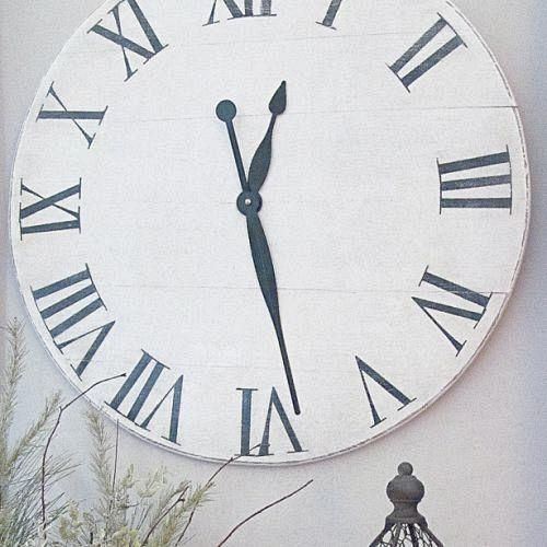 knock off ballard designs wall clock for under 15, crafts