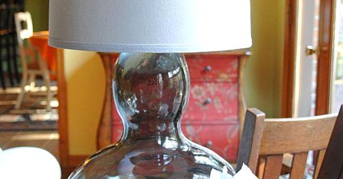 Diy Glass Lamp From Goodwill Vase Hometalk