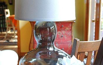 DIY Glass Lamp from Goodwill Vase