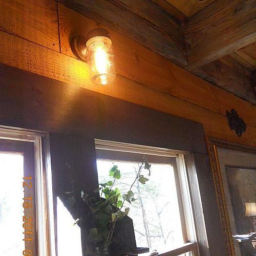 "The light bulb is the ""Edison"" bulb.  A  replica of the original light bulb."