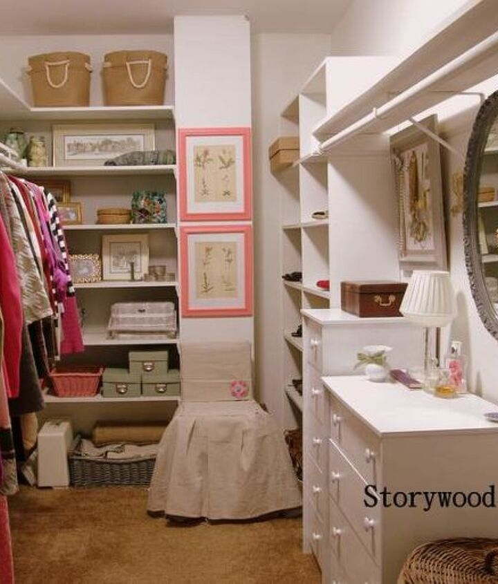 """The """"after"""" shot of my walk-in closet. Completely transformed using items I already owned.  A huge change from the before!"""