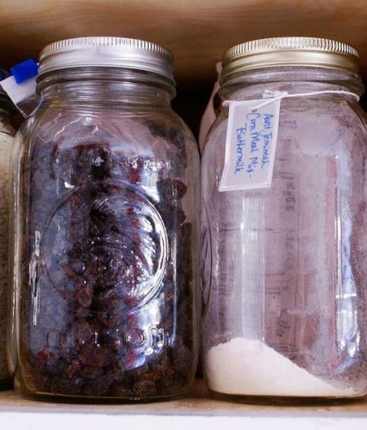 I love canning jars for canning and storage.
