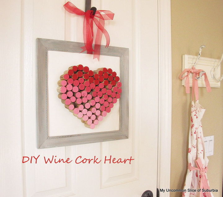 diy wine cork heart, crafts, seasonal holiday decor, valentines day ideas