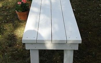 diy outdoor bench, outdoor furniture, outdoor living, painted furniture