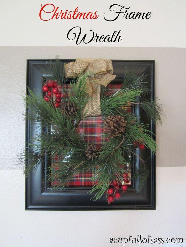 How to make a Christmas frame wreath   Hometalk