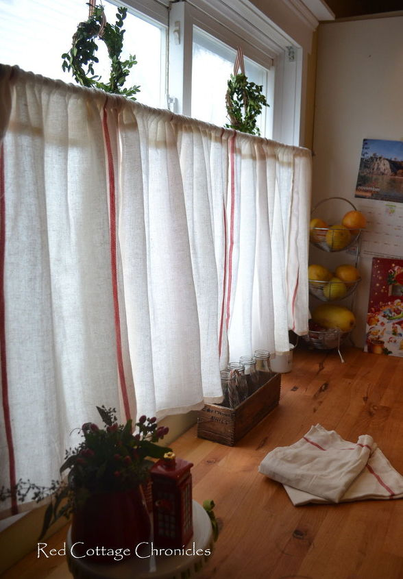 how to create cafe curtains for under 5 dollars, diy, home decor, window treatments