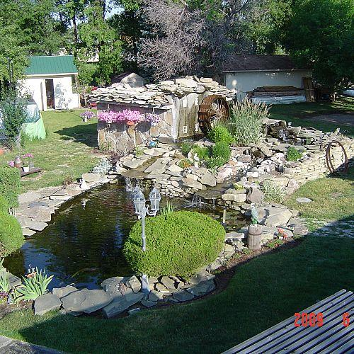 Overview during daylight hours.  We've done more landscaping around the pond now than shows here.