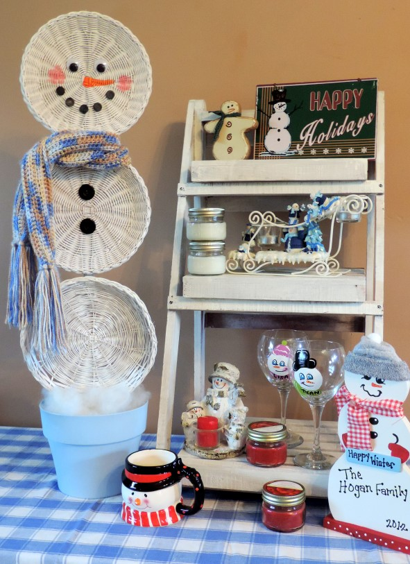 Easy Christmas Crafts An Upcycled Basket Snowman Decorations Repurposing Upcycling For Complete Instructions