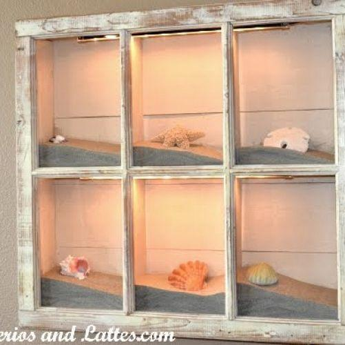 Decor ideas for old window frames hometalk for Picture window ideas