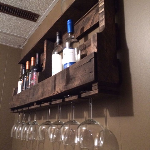 How to Make a Pallet Wine Rack | Hometalk