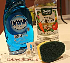 Shower And Tub Cleaner, Cleaning Tips, Mix Half Liquid Dish Detergent With  Half Vinegar