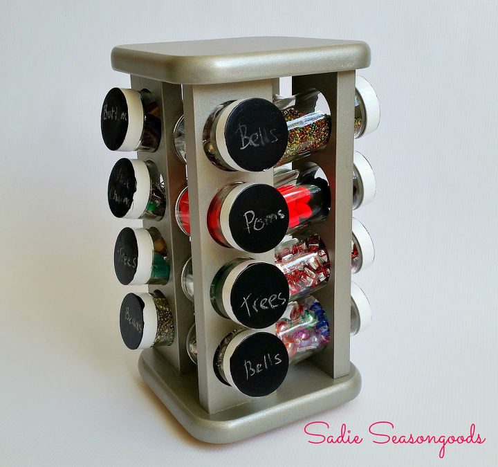 how to make a thrifted spice rack organizer, organizing, repurposing upcycling, storage ideas