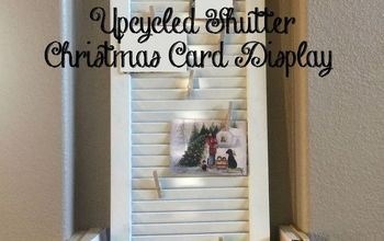 how to make an upcycled shutter christmas card display, christmas decorations, crafts, repurposing upcycling, seasonal holiday decor, woodworking projects, After