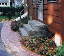 replacing old steps with a new porch stoop before amp after, curb appeal, home decor