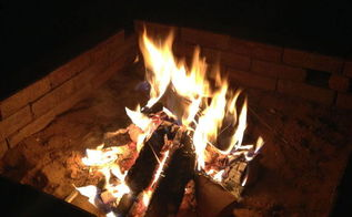 building a firepit in 20 minutes, diy, outdoor living