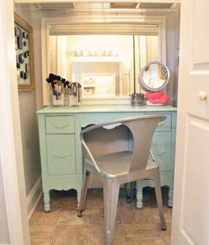 DIY vanity closet