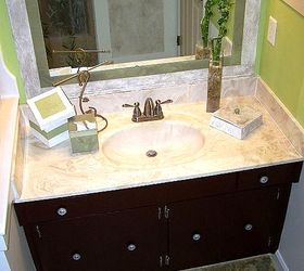 Old Bathroom Mirror Makeover Decorative Paint Frame Without Mirror Removal,  Bathroom, Painting, After