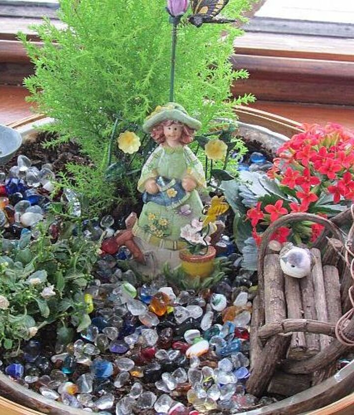making fairy gardens awaiting for spring to arrive, gardening