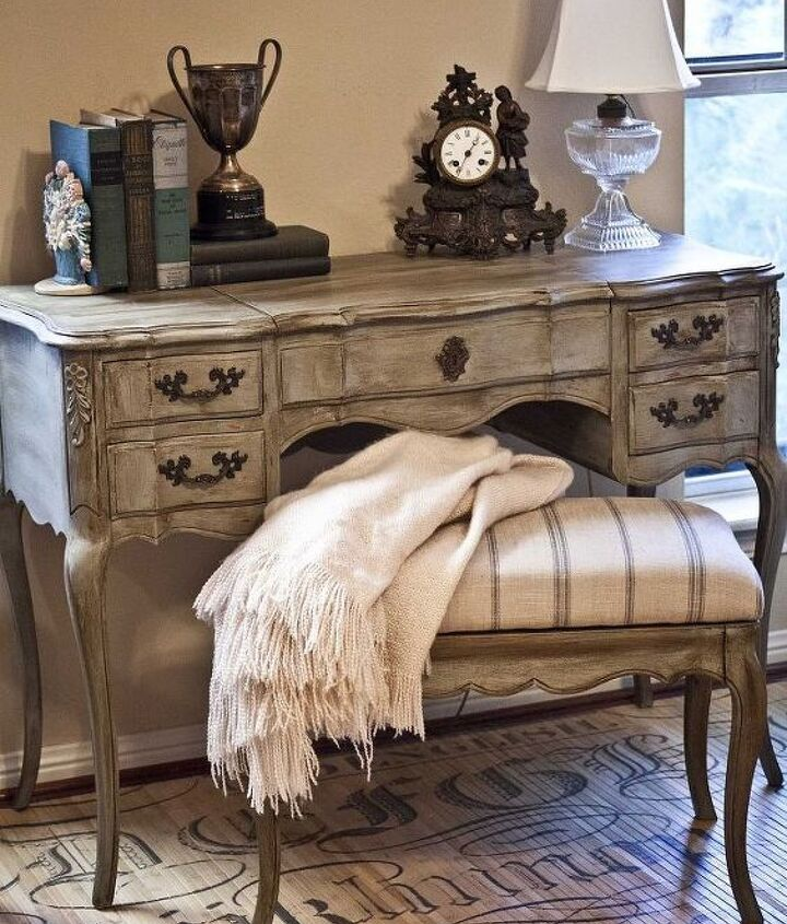 French vanity painted with Homemade chalk paint