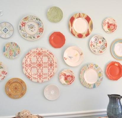 Plastic Plate Wall Home Decor Bought All The Plates At