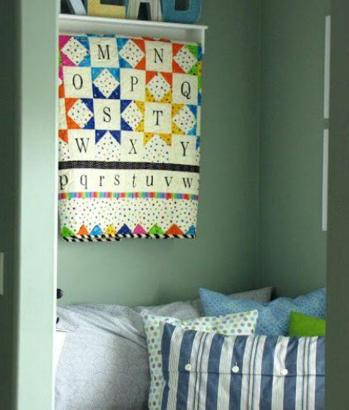 I made some easy envelope pillow cases for a comfy spot to curl up in.