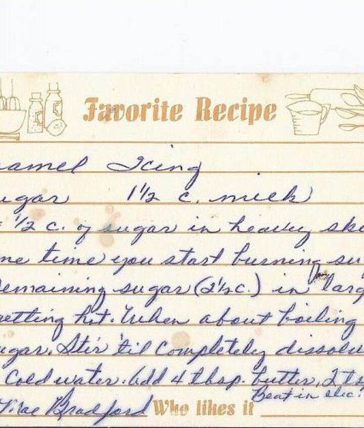 I scanned my Mother's original recipe card. I saved it as a JEP file.