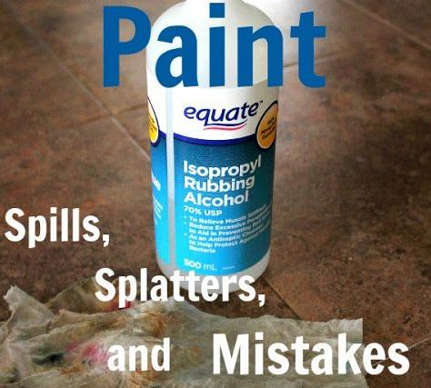 If you've got paint spills, Splatters, or Mistakes, this is all you need!