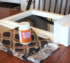 A Fabric And Mod Podge Covered Mirror, Crafts, Decoupage, Home Decor, The