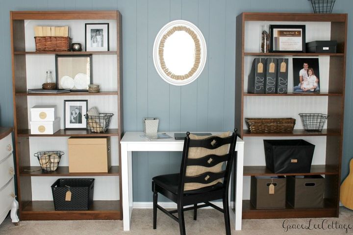 Farmhouse Chic Office Makeover Chalk Paint Chalkboard Crafts Home
