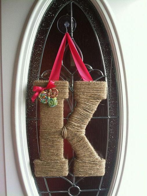 love making these twine letters, crafts