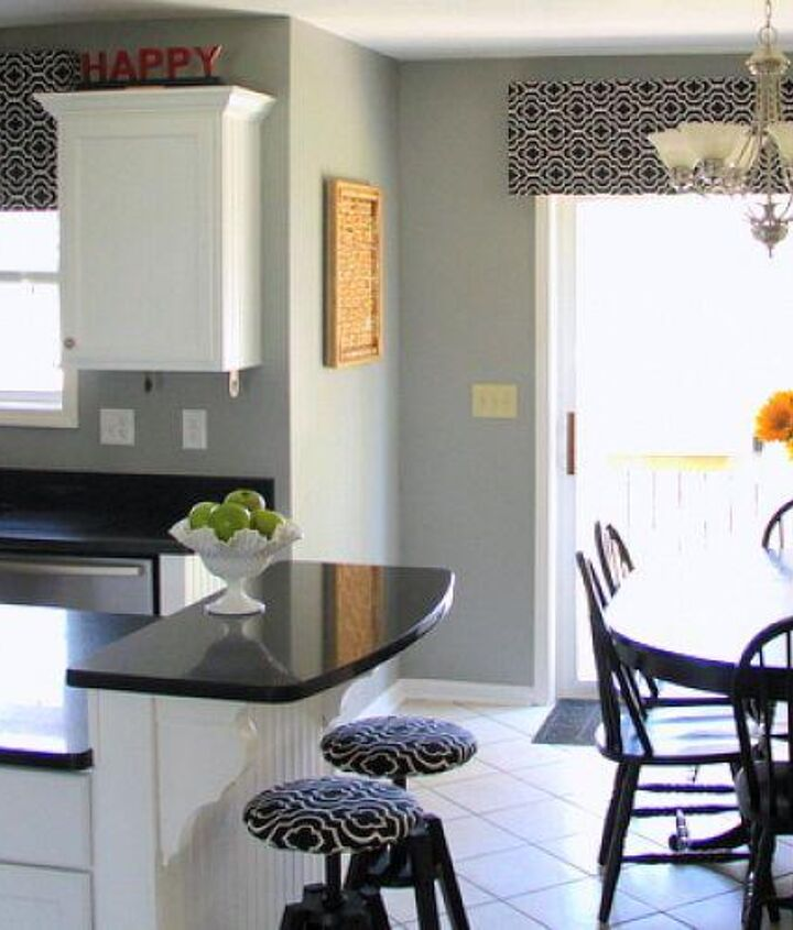 I loved the fabric so much that I used it in three places in our kitchen!