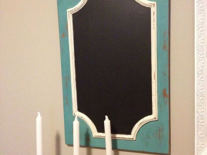 hanging chalk board from old cabinet door, chalk paint, chalkboard paint, crafts, home decor, painting, repurposing upcycling, Chalkboard made out of 2 cabinet door