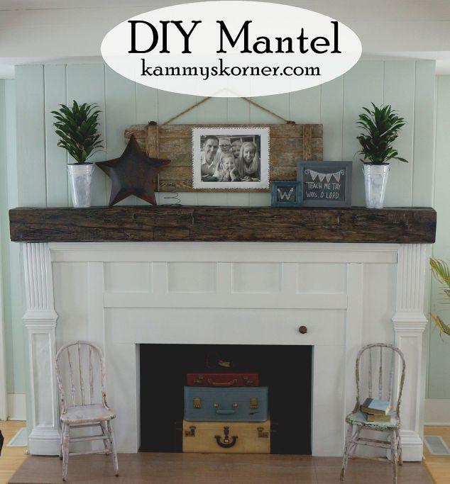 Fireplace Facelift Beautiful Mantel Built With Scraps Hometalk