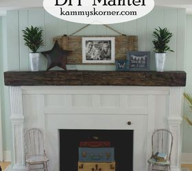 Fireplace Facelift Beautiful Mantel Built With Scraps, Diy, Fireplaces  Mantels, How To,