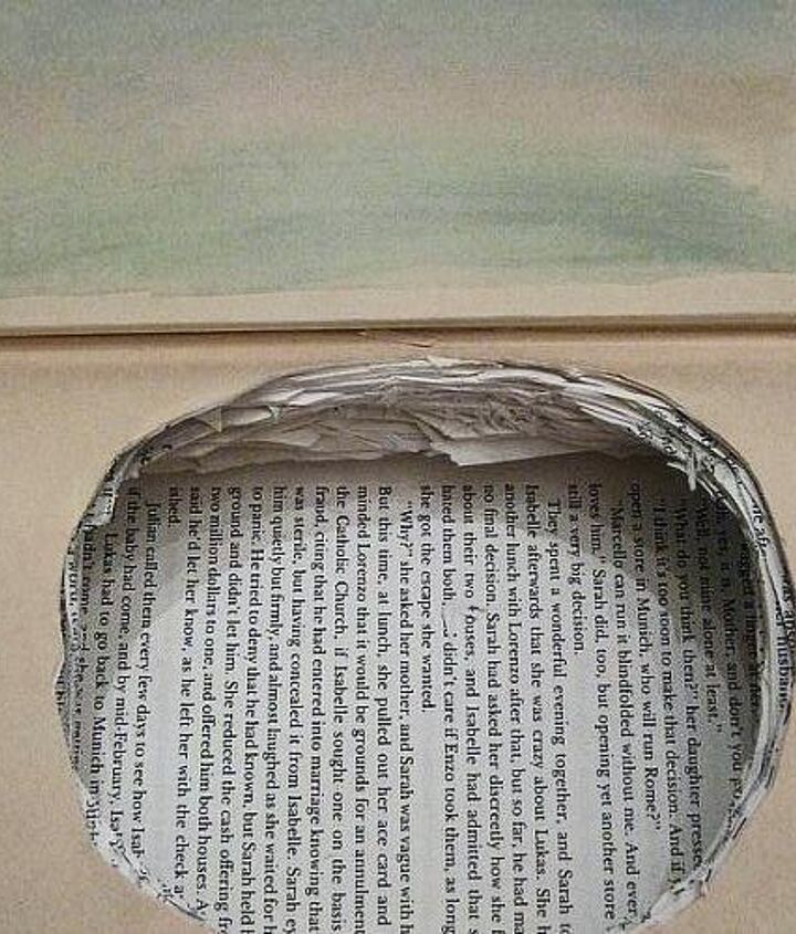 cut out section of pages